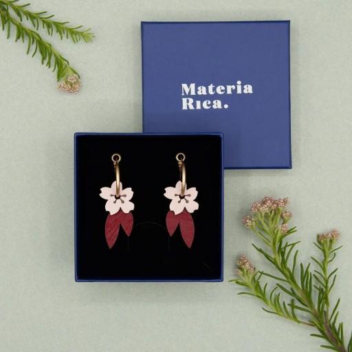 Pendientes  de aro Materia Rica  Cherry Blossom  [2]