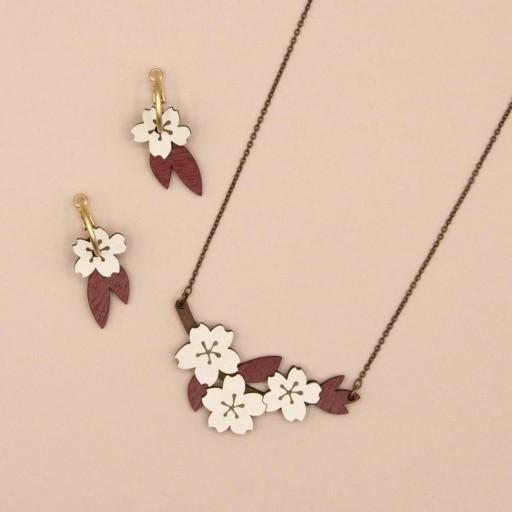 Pendientes  de aro Materia Rica  Cherry Blossom  [3]
