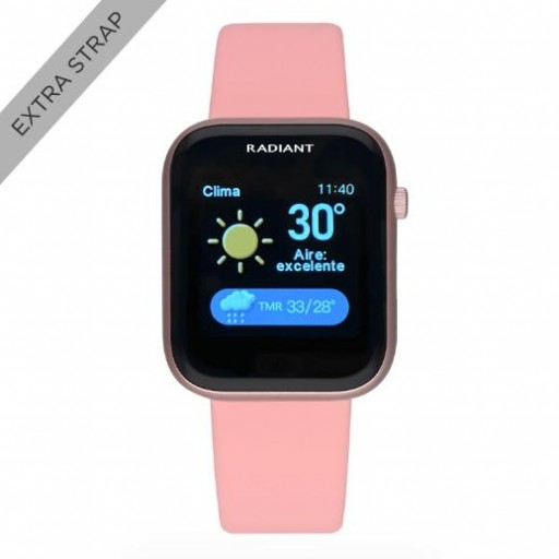 Smart watch de Radiant   Manhatthan 35mm IP Rosa doble correa  rosa [1]