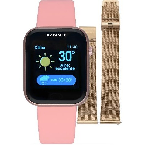 Smart watch de Radiant   Manhatthan 35mm IP Rosa doble correa  rosa