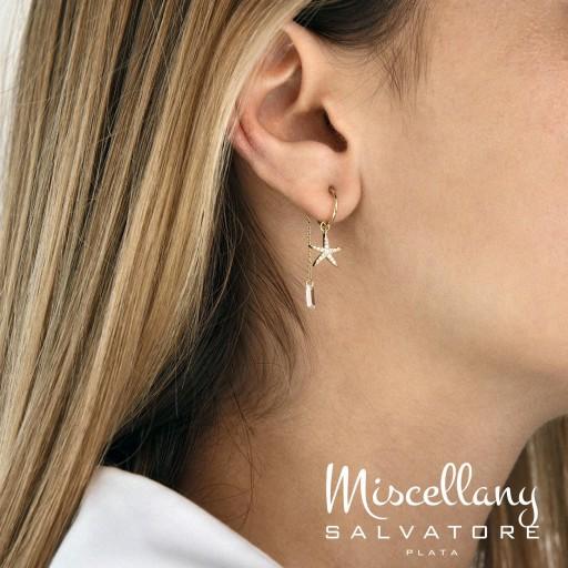 Charm  plata Salvatore cadena dorados,  con circonita blanca brillante  [1]