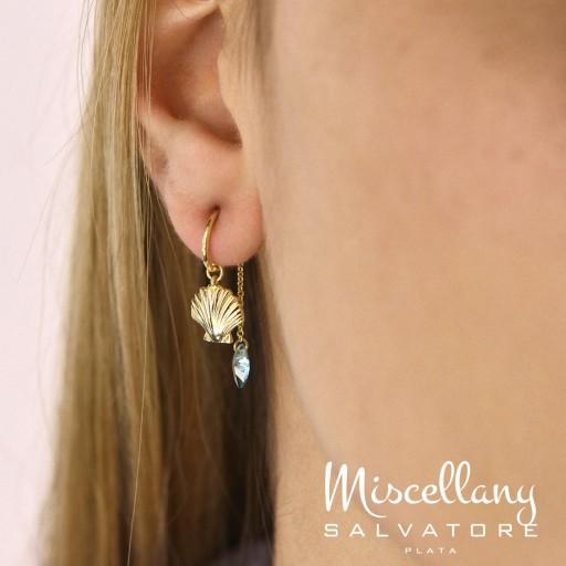 Charm  plata Salvatore cadena dorados,  con circonita rubí brillante  [1]