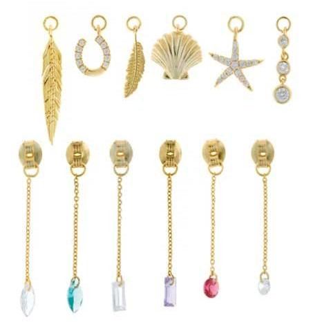Charm  plata Salvatore cadena dorados,  con circonita blanca brillante  [2]