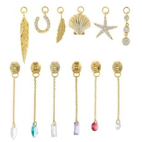 Charm  plata Salvatore cadena dorados,  con circonita rubí brillante  [2]
