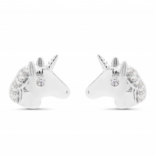 Pendientes  plata Kesa Luxenter unicornio con circonita