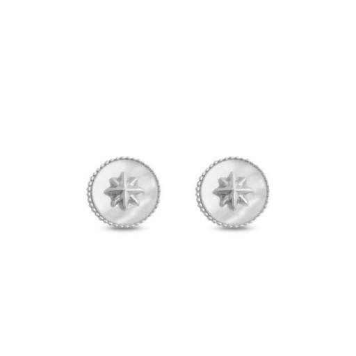 Pendientes  plata Tyron Luxenter  estrella madre perla