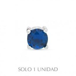 Piercing plata Brandsa  Luxenter azul