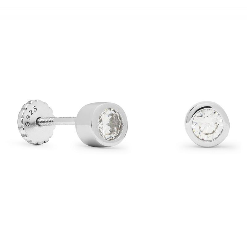 Piercing plata Shiri  Luxenter chatón circonita