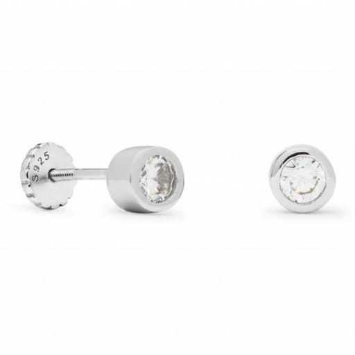 Piercing plata Shiri  Luxenter chatón circonita  [0]