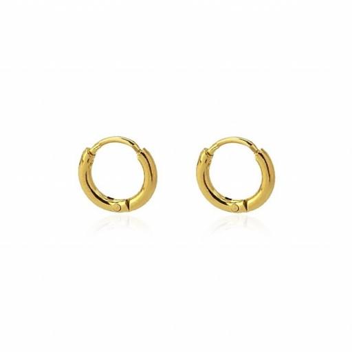 Aros acero Anartxy 7mm de sección circular dorados
