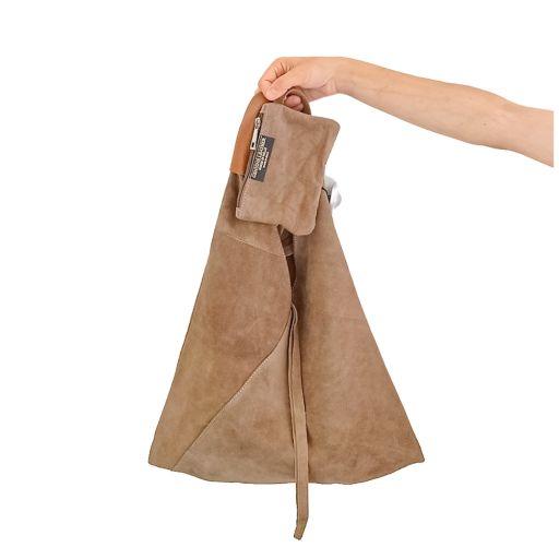 Bolso saco piel serraje taupe [1]