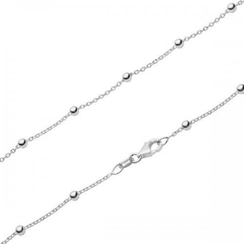 Cadena de plata Pilar Breviati con bolitas plata lisa