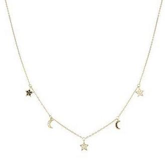 Colgante plata Budga Luxenter charms  estrellas y lunas con circonitas engastadas