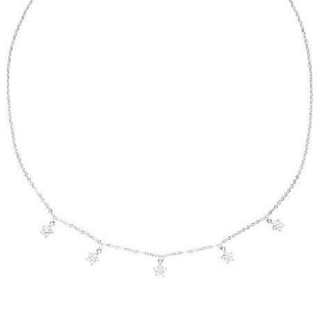 Colgante de plata Pilar Breviati  charms cinco estrellas circonita blanca