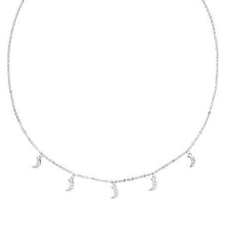 Colgante de plata Pilar Breviati  charms cinco lunas circonita blanca