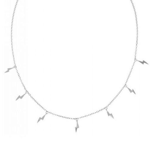 Colgante de plata Pilar Breviati  charms sitete rayos en  plata lisa