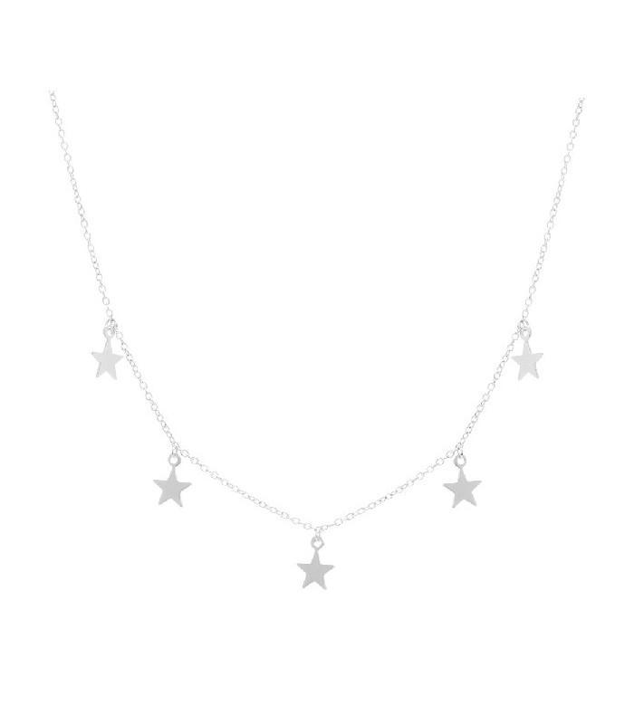 Colgante de plata Pilar Breviati  charms cinco estrellas plata lisa