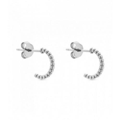Aros de plata Pilar Breviati  pequeños con forma bolitas