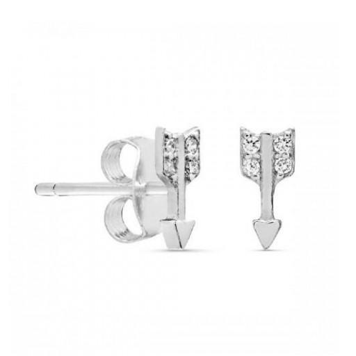 Pendientes  plata Pilar Breviati  pequeños con forma de flecha
