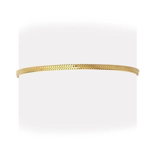 Pulsera acero  Anartxy plana 2,5mm tipo serpiente dorada [1]