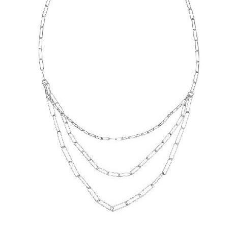 Colgante de plata Pilar Breviati  eslabón rectangular triple