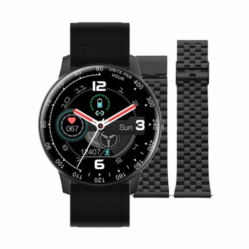 Smart watch de Radiant   Times Square 44mmIP Negro doble correa negra