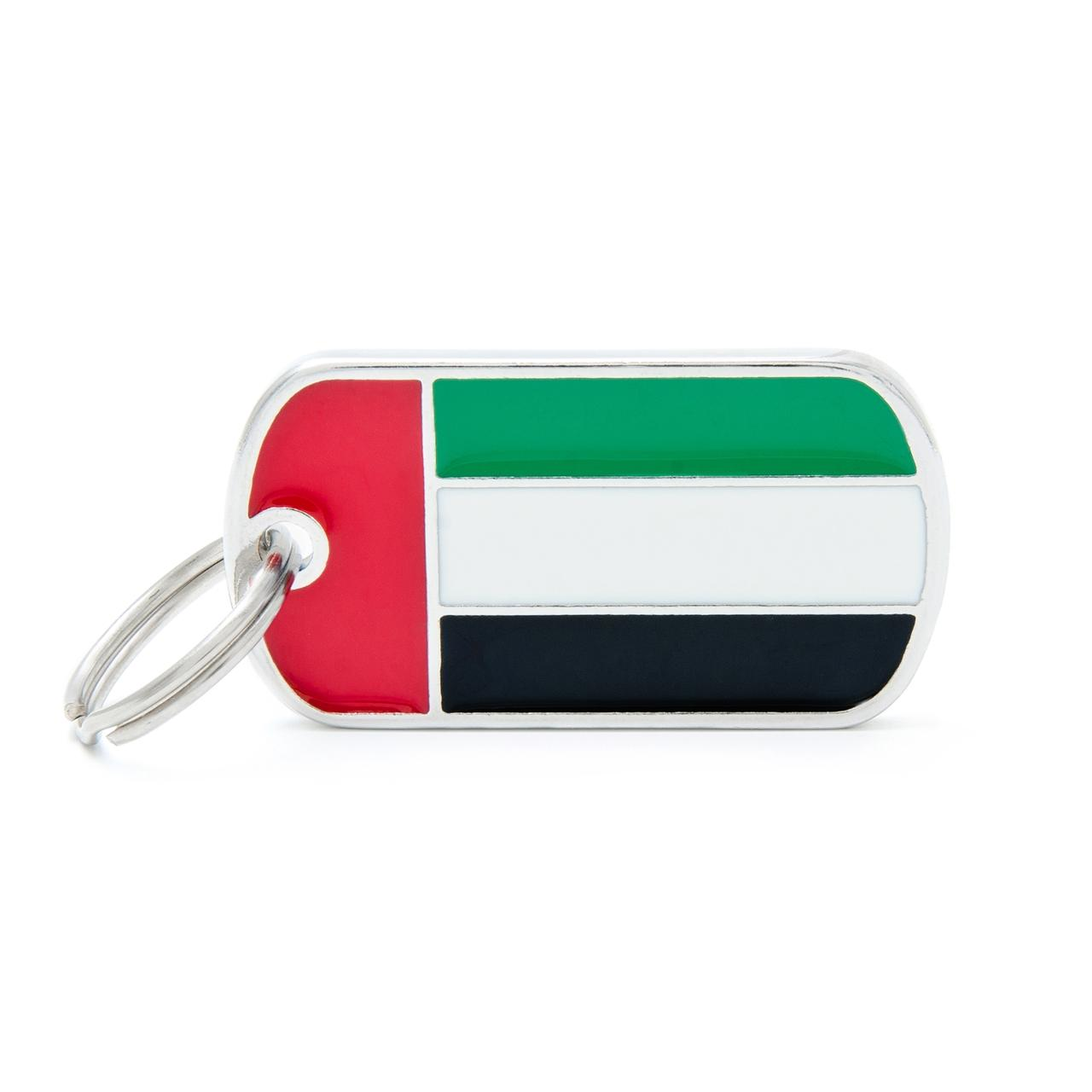 Placa Bandera de Emiratos Árabes Unidos