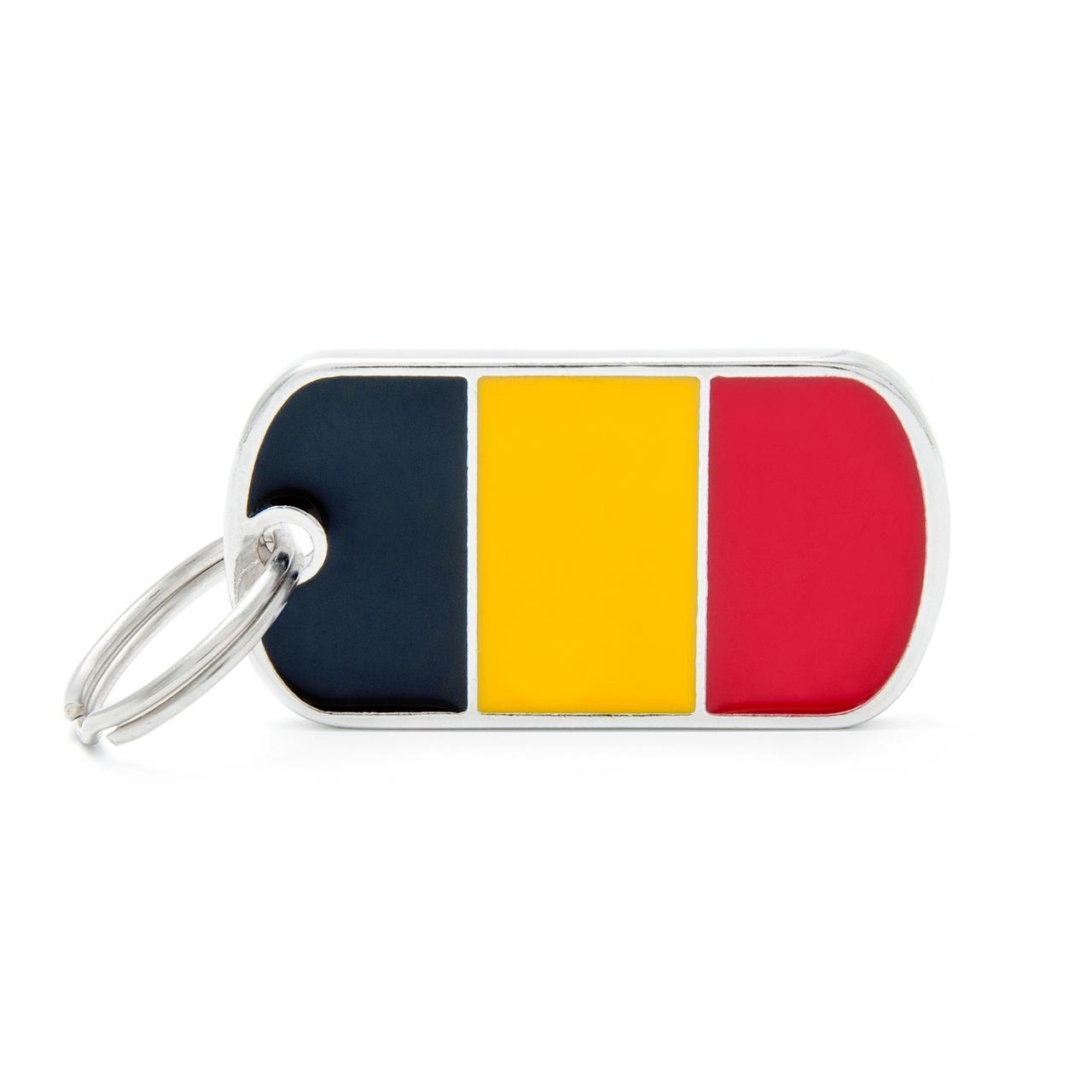 Placa Bandera de Bélgica