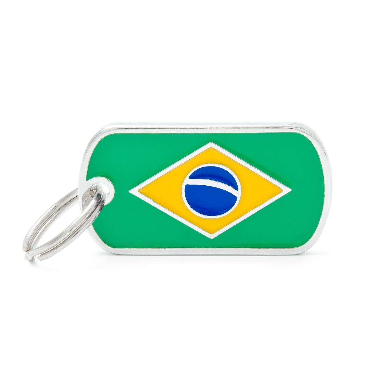 Placa Bandera de Brasil