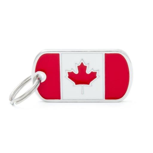 Placa Bandera de Canadá
