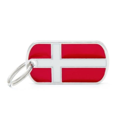 Placa Bandera de Dinamarca
