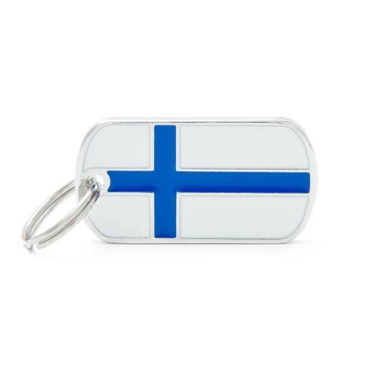 Placa Bandera de Finlandia