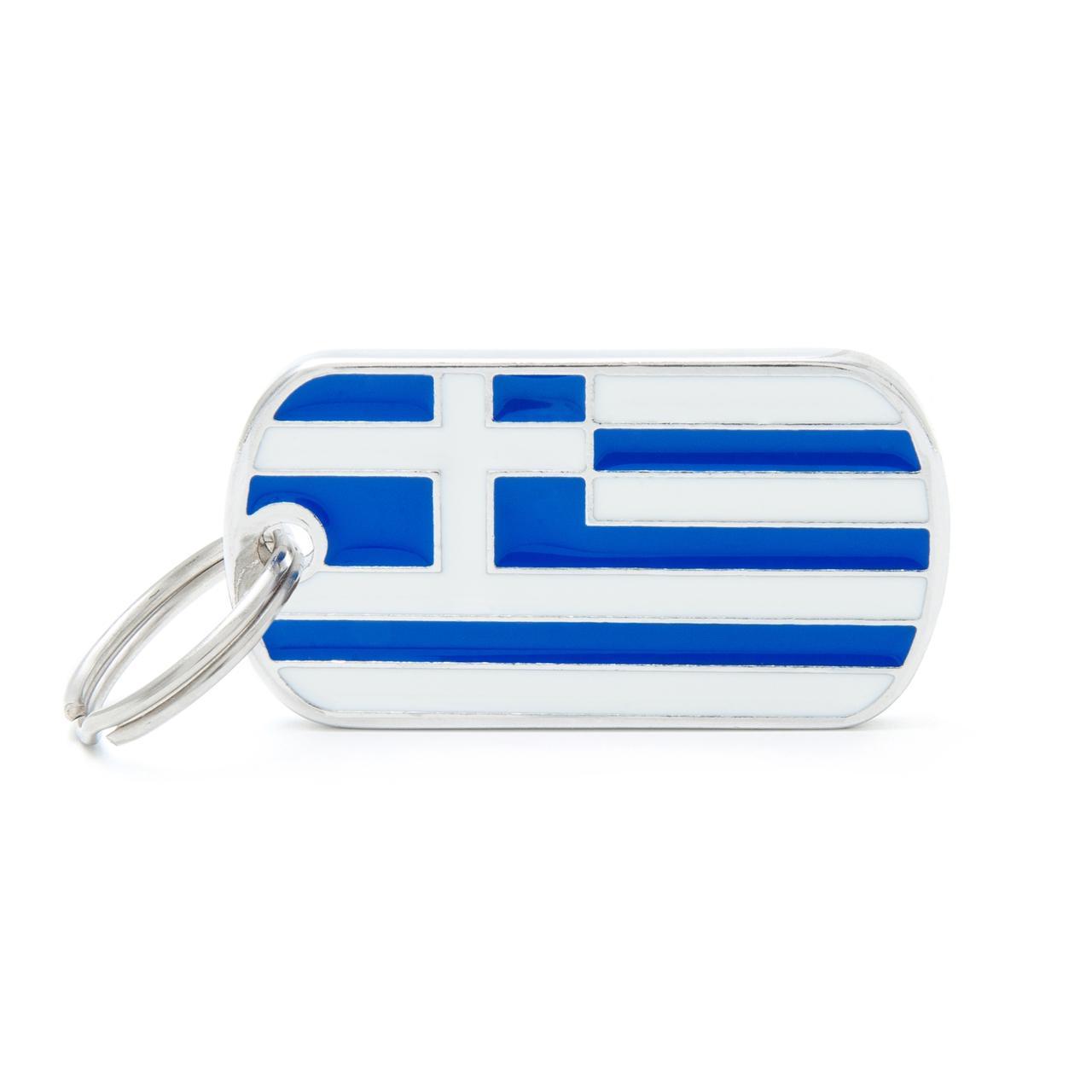 Placa Bandera de Grecia