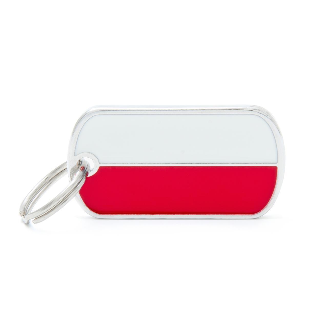 Placa Bandera de Polonia