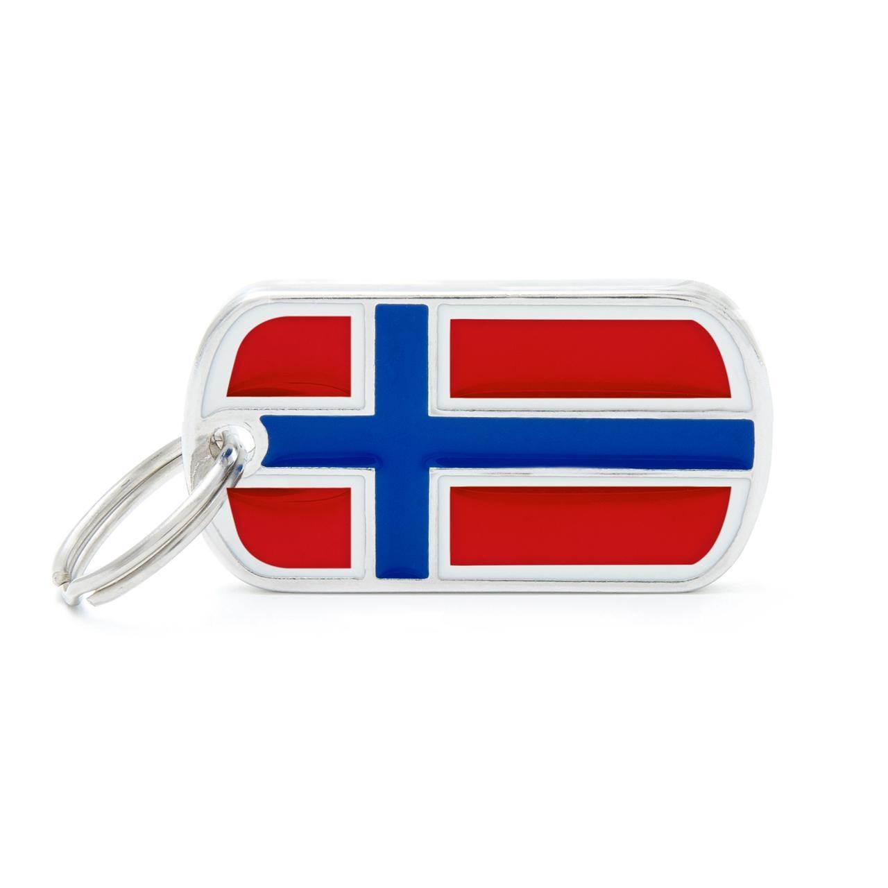 Placa Bandera de Noruega
