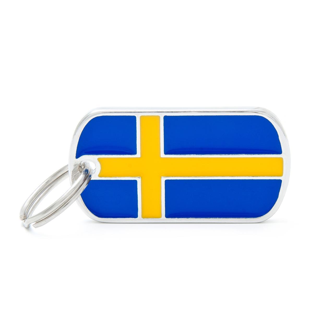 Placa Bandera de Suecia