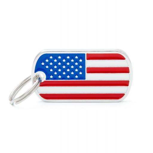Placa Bandera de Estados Unidos