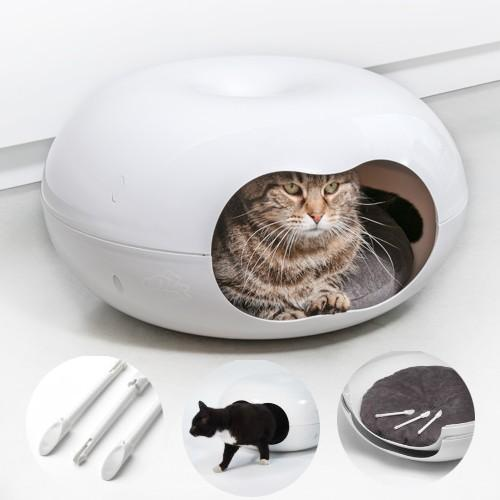 Casa Gato Donnut con Cojín