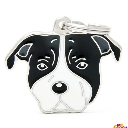 Placa American Staffordshire Terrier Blanco