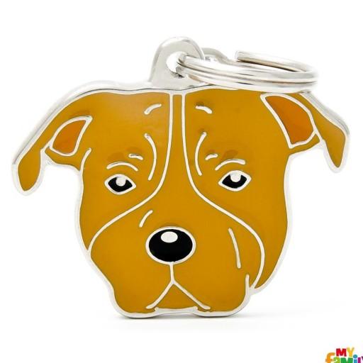 Placa American Staffordshire Terrier Marrón