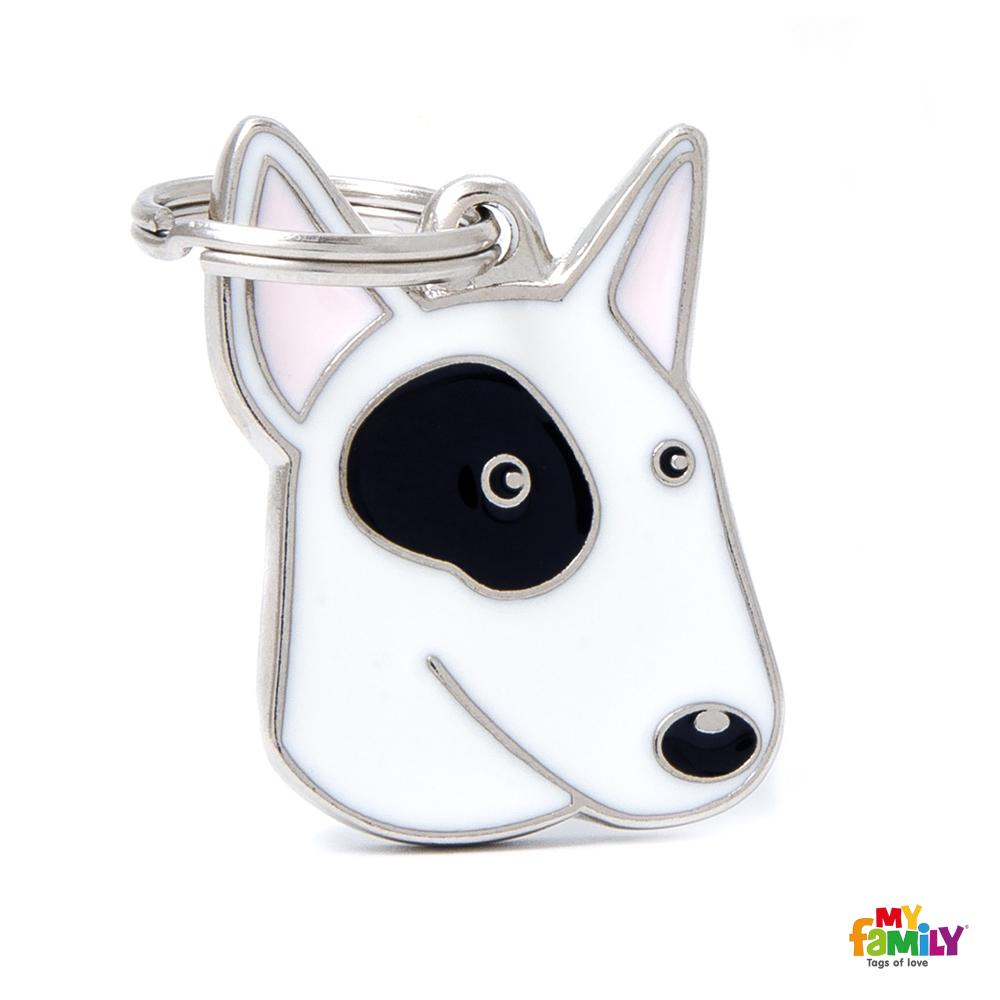 Bull Terrier Blanco y Negro