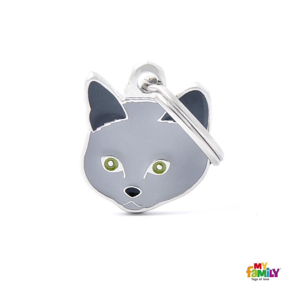 Placa Gato Chartreux
