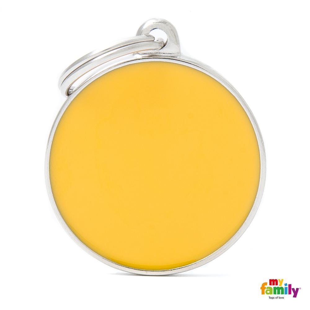 Placa Círculo Grande Amarillo Handmade