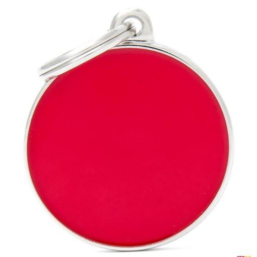 Placa Círculo Grande Rojo Handmade