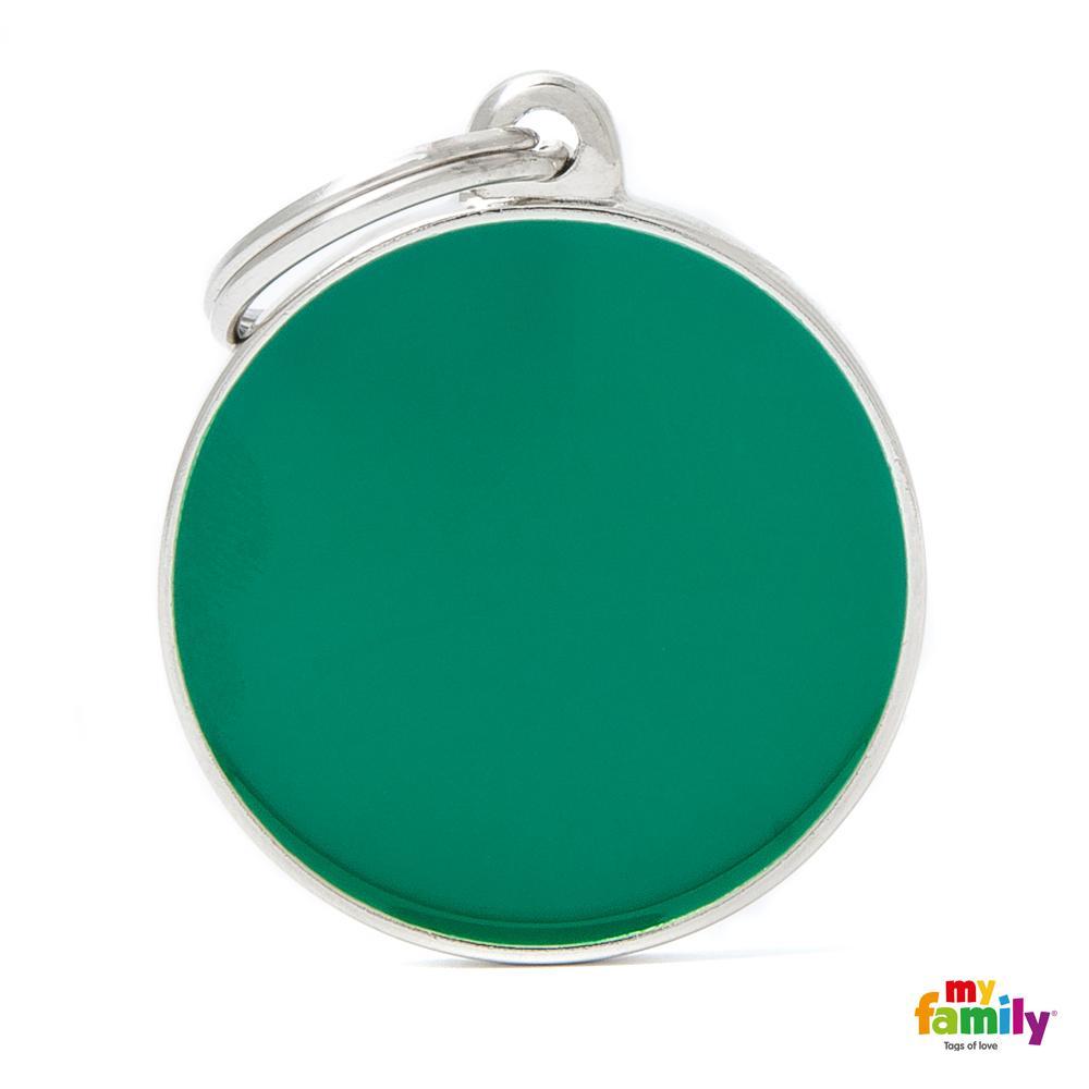 Placa Círculo Grande Verde Handmade