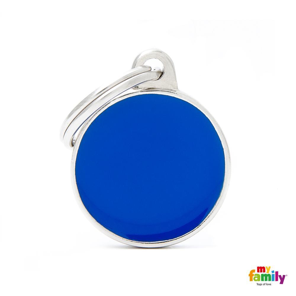Placa Círculo Pequeño Azul