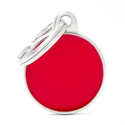 Placa Círculo Pequeño Rojo