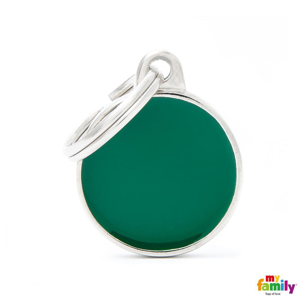 Placa Círculo Pequeño Verde