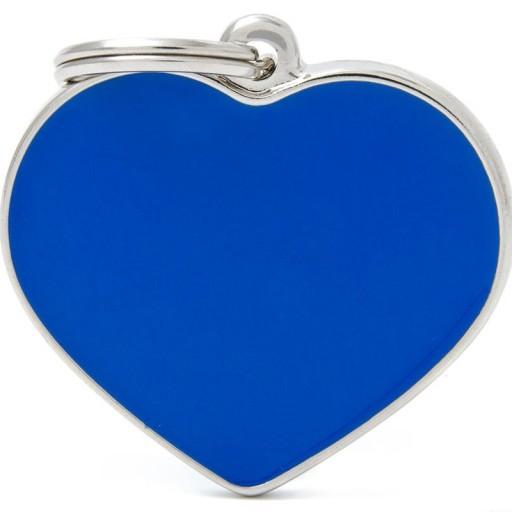 Placa Corazón Grande Azul Handmade
