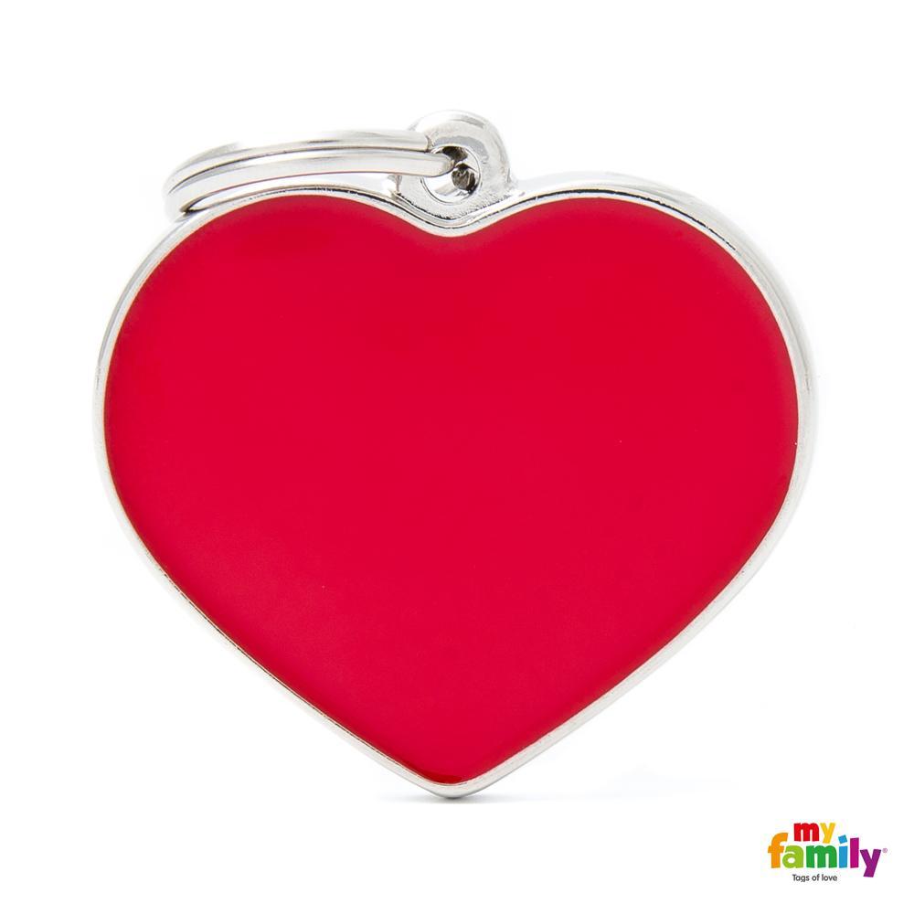 Placa Corazón Grande Rojo Handmade